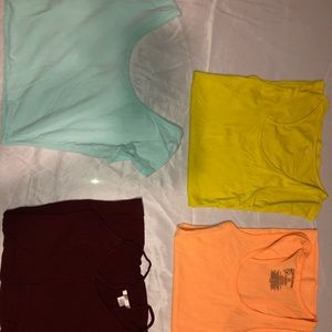 Tops - Multiple Tank-Tops and Blue Crop Top